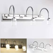 modern led spiegelleuchte bad spiegelle 360 einstellbar badleuchte badezimmer wandleuchte aus edelstahl spiegelschrank le 3 flammig