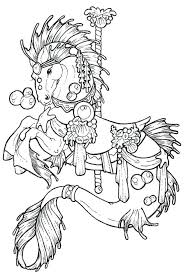 Free Spirit Horse Coloring Pages Rocking Printable For Adults Carousel Colouring Page