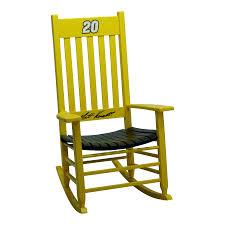 shop hinkle chair company hinkle nascar rockers yellow black