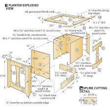 planter box construction detail plans diy free download small