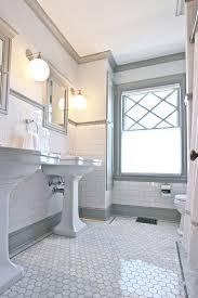 Faux Marble Hexagon Floor Tile by Quarter Design Studio Victorian Bathroom Melrose Ma U2013 Marble