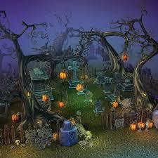 Halloween Graveyard Fence Prop by Halloween Cemetery Set 3d Models Bitgem