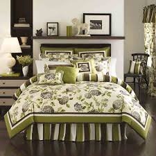 White And Black Bedding by Green And Brown Flower Pattern Down Comforters With Brown White