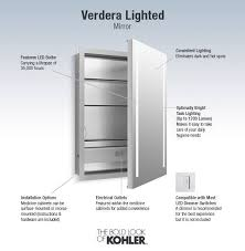 Kohler Verdera Recessed Medicine Cabinet by Shop Kohler Verdera 24 In X 30 In Rectangle Surface Recessed