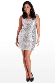 icy silver sequin dress