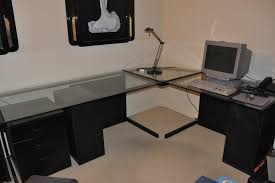 glass l shaped desk walmart thediapercake home trend