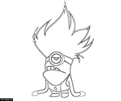 Despicable Me 2 Evil Minion Coloring Page For