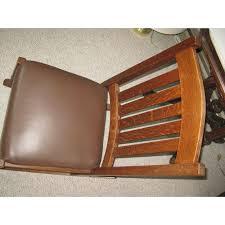 Stickley Rocking Chair Plans by Arts U0026 Crafts Stickley Rocking Chair Chairish