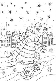 Click To See Printable Version Of Peppy In January Coloring Page