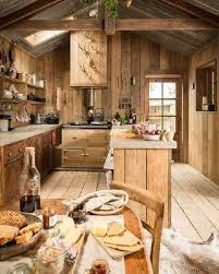 In Rustic Kitchen Dominate Parts Of Real Wood Which Have Style And Are Functional