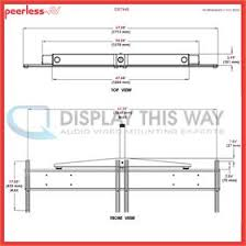 peerless dst940 dual display ceiling mount for mid size screens