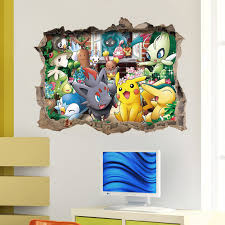 DIY Cartoon 3D Pokemon Wall Stickers For Kids Rooms Bathroom Kitchen Poster Room Decor Art Home In Underwear From Mother On