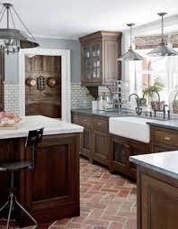Wooden Kitchen Cabinets Fascinating Country Farmhouse Design Ideas Bricks
