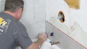 Cutting Schluter Tile Edging by How To Tile A Shower Wall And Cut Holes In Tile Like A Pro