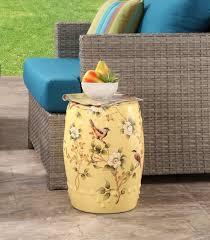 Garden Stools Sophia Yellow Pierced Ceramic Stool For Plans 9