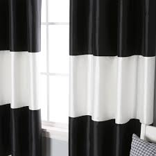 Vertical Striped Window Curtains by Nice Looking Home Design With White Glass Window And Horizontal
