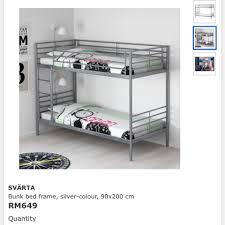 svarta bunk bed frame preloved tanpa tilam