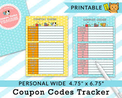 PERSONAL WIDE Printable Coupon Codes Tracker Planner Refills Etsy Coupon Code Everything Decorated Skintology Deals Canada Discount Tobacco Shop Scottsville Ky Coupons And What To Watch Out For Tutorials Tips Ideas Coupon Distribution Jobs Buy 2 Get 1 Freecoupon Code Freepattern Hoes Before Bros Cross Stitch Pattern Codes Promotions Makery Space Shipping 2019 Pin By Manny Fanny Stickers On Planner Codes Discounts Promos Wethriftcom Do Not Purchase Use