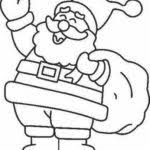 Santa Free Coloring Pages For Christmas