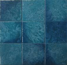 6x6 White Pool Tile by Seabreeze Teal 6