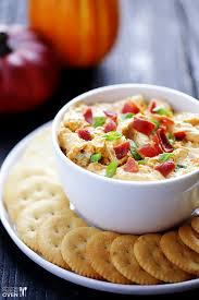 Pumpkin Throwing Up Guacamole With Cheese Dip by Savory Pumpkin Dip Gimme Some Oven