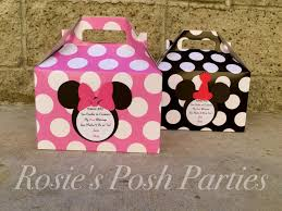 Mickey And Minnie Bathroom Accessories by Pink Minnie Mouse Favor Box And Mickey Mouse Birthday