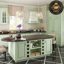 französische landhausküche provence premium massivholzküche küchenzeile mit insel mintgrün