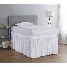 Amazon Bed Skirt Twin XL 3 Panel Set White Home & Kitchen