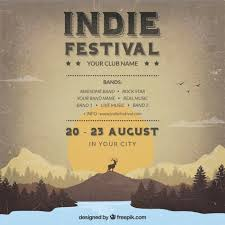 Indie Festival Poster In Retro Style Free Download