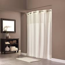 Small Waterproof Bathroom Window Curtains by Amazon Com Hookless Rbh40my302 Fabric Shower Curtain Beige