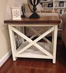 Ana White Rustic Headboard by Ana White Rustic X End Table Diy Projects
