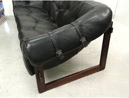 Percival Lafer Brazilian Leather Sofa by Sofa 3 Seat Sofa Percival Lafer Mp 091 Leather Black Rosewood