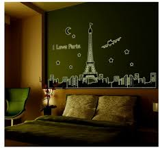 Paris Themed Bathroom Wall Decor by Novelty Households Glow In The Dark Diy Home Decor Wall Sticker