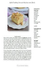 apfel pudding streusel kuchen vom blech kuchen rezept