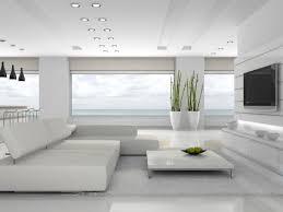 wohnzimmer einrichten herrliche aussicht grüne flanzen