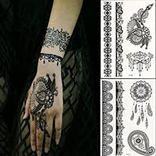 Generic Black Lace Temporary Tattoos For Adventurous Women Teens Girls