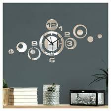 details zu moderne wand uhr spiegel design wanduhr dekouhr wohnzimmer uhrwerk flur w3484