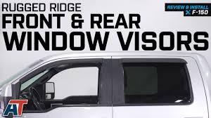 100 Truck Window Visors 20092014 F150 Rugged Ridge Front Rear Review