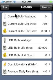 led light bulb savings calculator iphoneappdesigns