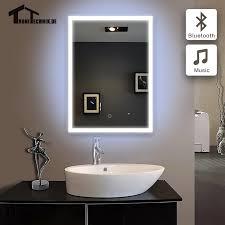 50x70 cm bluetooth beleuchtet bad spiegel bad spiegel im badezimmer led piegel badkamer glas spiegel wand ip44 e102b 90 240 v