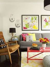 loooove all the color gray walls gray couch yet bright and