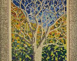 mosaic wall etsy
