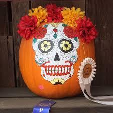 Sugar Skull Pumpkin Carving Patterns by 50 No Carve Pumpkin Decorating Ideas For Fall 2016
