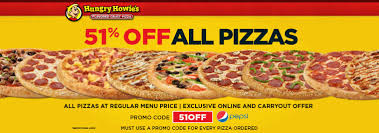Hungry Howies Coupon September 2018 51 Off At Pizza Via Promo Code 51OFF