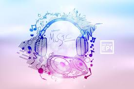 Download Poster Background For Music Club Disco Event With Rainbow Colour Stock Vector