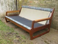 Danish Modern Sofa Ebay by Danish Modern Wood Frame Collapsible Sofa With By Projecteur