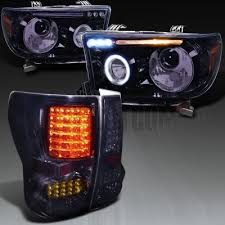 toyota tundra 2007 2013 smoked projector headlights and led