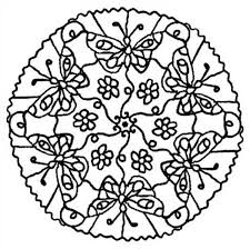 Baby Born Butterfly Mandala Animal Coloring Pages