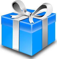 Present blue t clip art at vector clip art