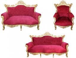 casa padrino barock wohnzimmer set master bordoaux rot gold 3er sofa 2er sofa 1 sessel